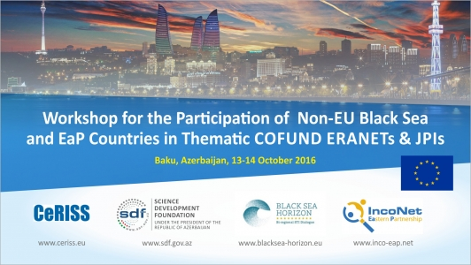 UPDATED Workshop for the Participation of Non-EU Black Sea and EaP Countries in Thematic COFUND ERANETs & JPIs